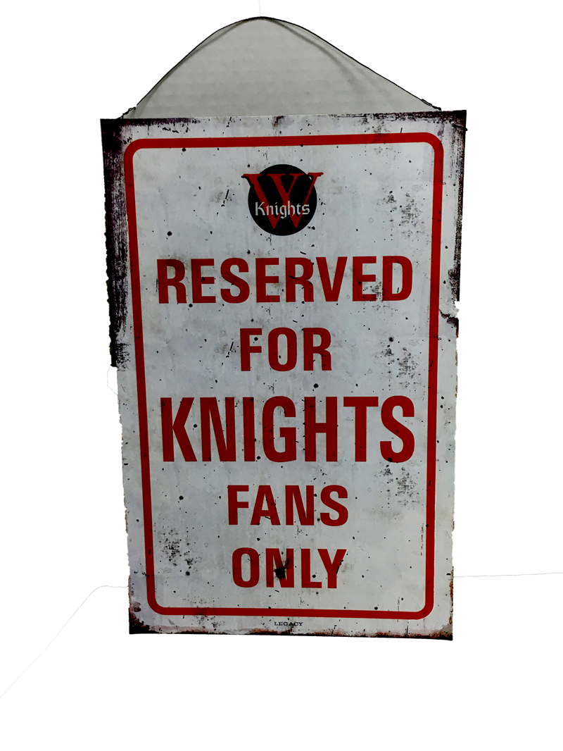 Wall Decor: Knight Parking Tin Sign