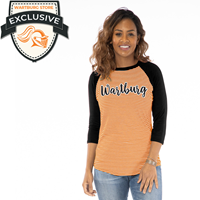 Leah Striped Baseball Tee