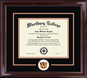 Lasting Memories Spirit Edition Diploma Frame In Encore With Black/Bright Orange Mats