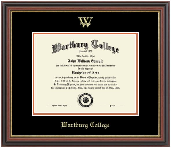 Diploma Frame: Gold Embossed Athletics Logo (SKU 100701477)