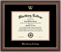 Diploma Frame: Gold Embossed Athletics Logo