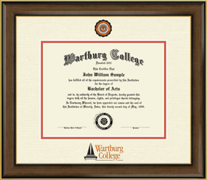 Diploma Frame: Dimensions Color College Seal