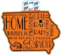 Sticker: Iowa Outline