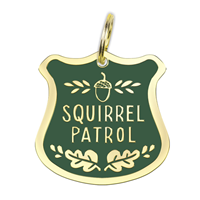 Collar Charm: Squirrel Patrol