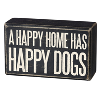 Happy Dogs Box Sign
