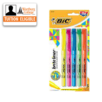 Highlighter: Bic Brite Liner 5/pk