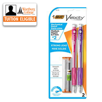 Pencils: Bic Velocity Mechanical 2/pk