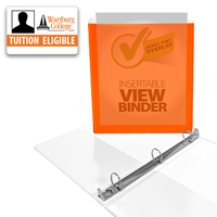 Binder: Orange Tinted 1""