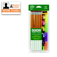 Pencils: Variety Pack + Erasers, Grips, Sharpener