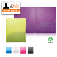 Folder: Two Pocket Poly, Fashion Colors