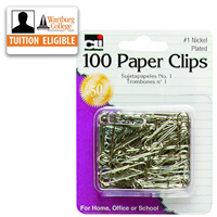 Paper Clips: Nickel Plated