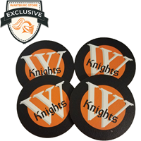 Coaster Set: Leather Knights
