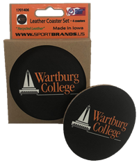 Coaster Set: Leather Wartburg College