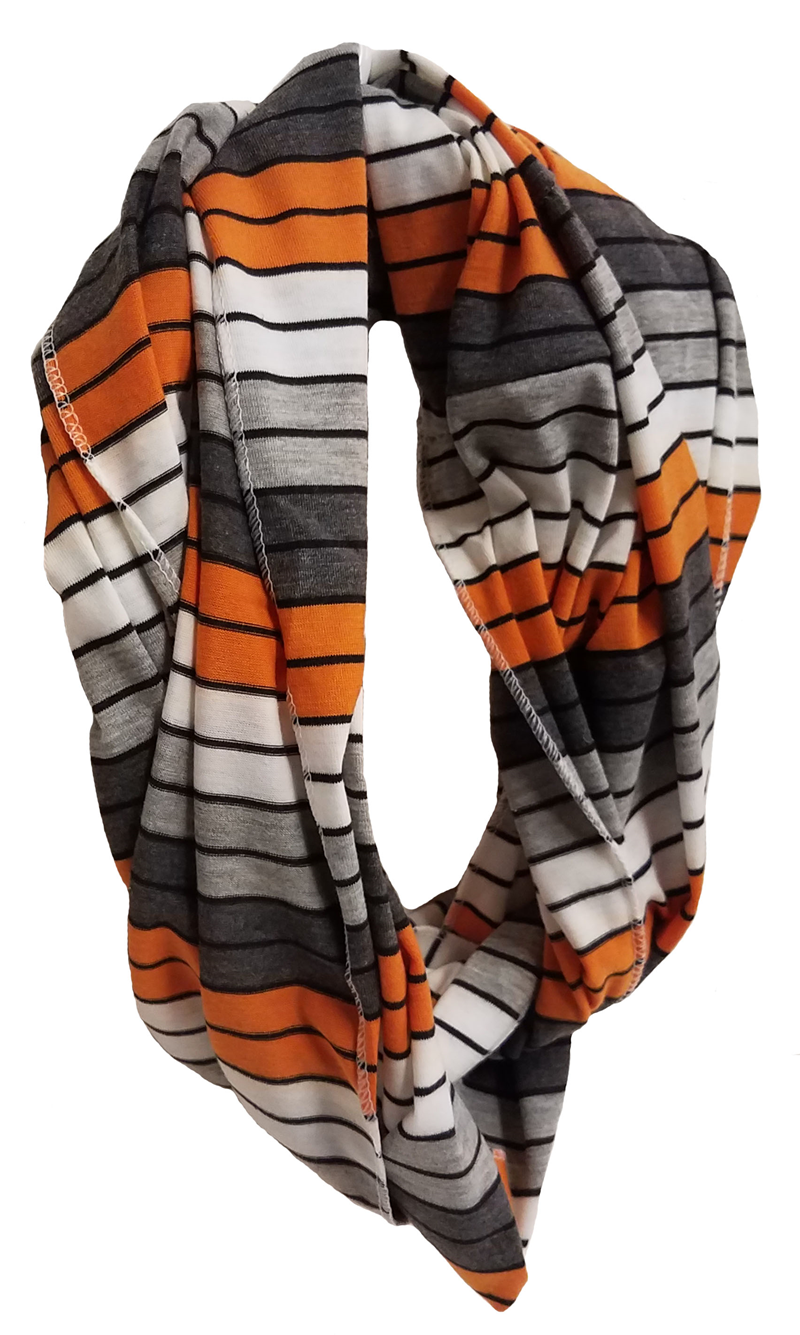 Scarf: Orange & Black Infinity