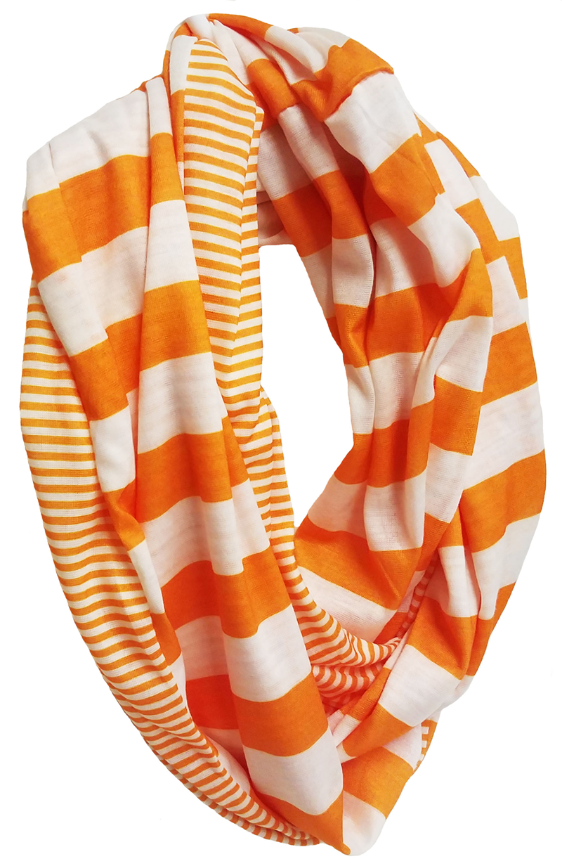 Scarf: Orange & White Infinity